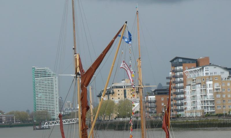 Moored in greenwich