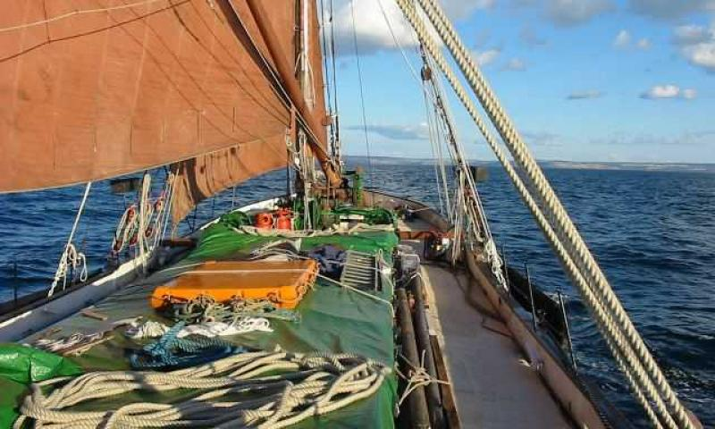 Beric - deck view under sail