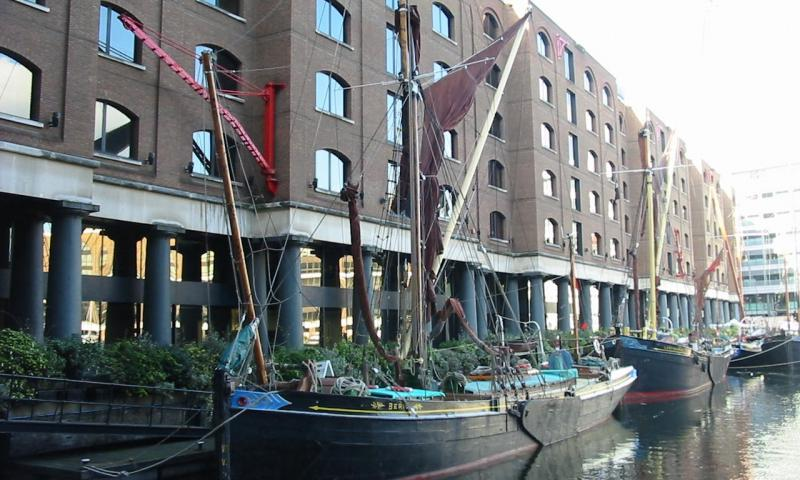 Beric at her moorings in St Katherine's Dock