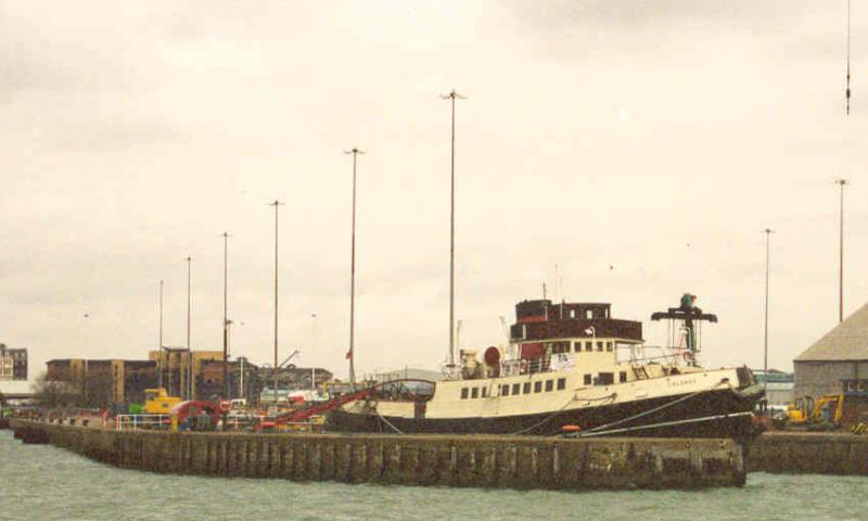 Calshot - moored in Southampton Docks