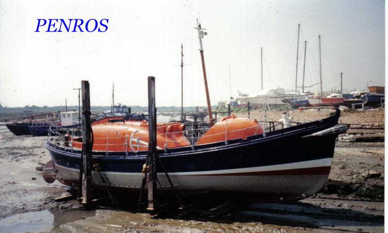 PENROS on legs, starboard side view.