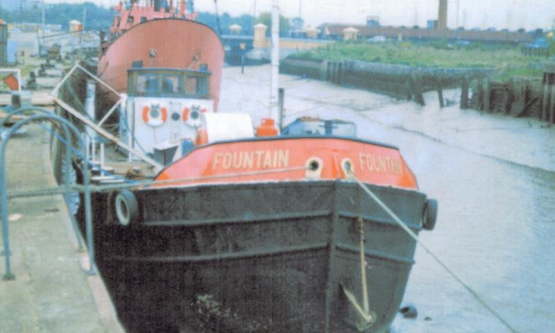 Bow view of vessel alongside