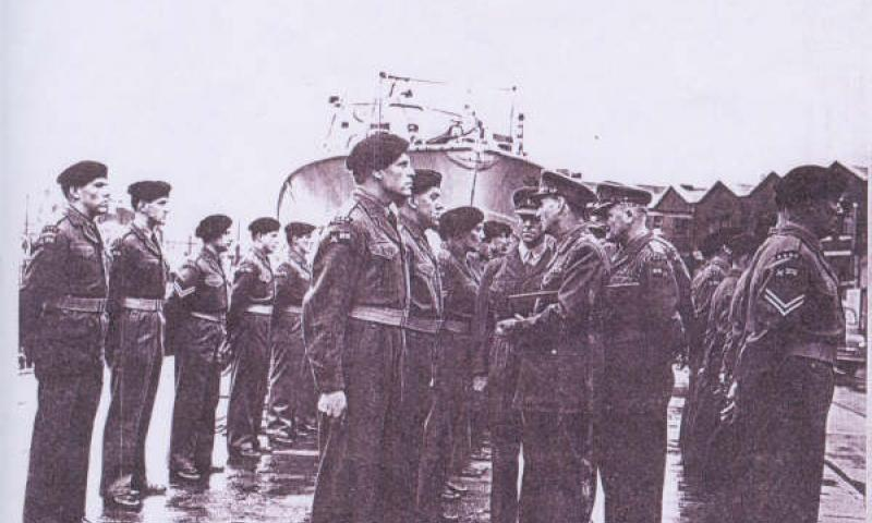 Hyperion - handing over parade to the RASC 1943.