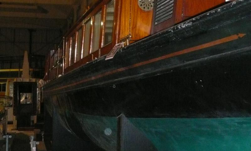Donola - looking aft, in storage