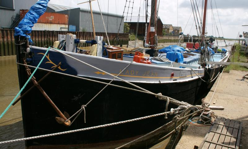 Lady Jean - port side, bow
