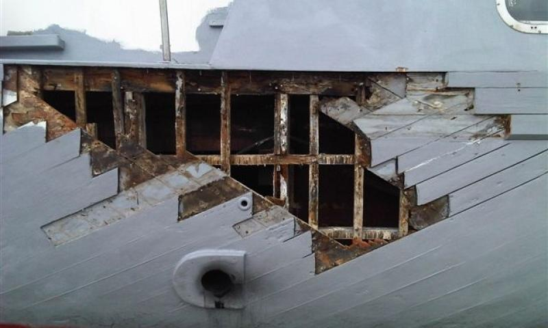 hull planking replacement