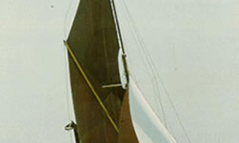 MAY - under sail. Starboard bow looking aft