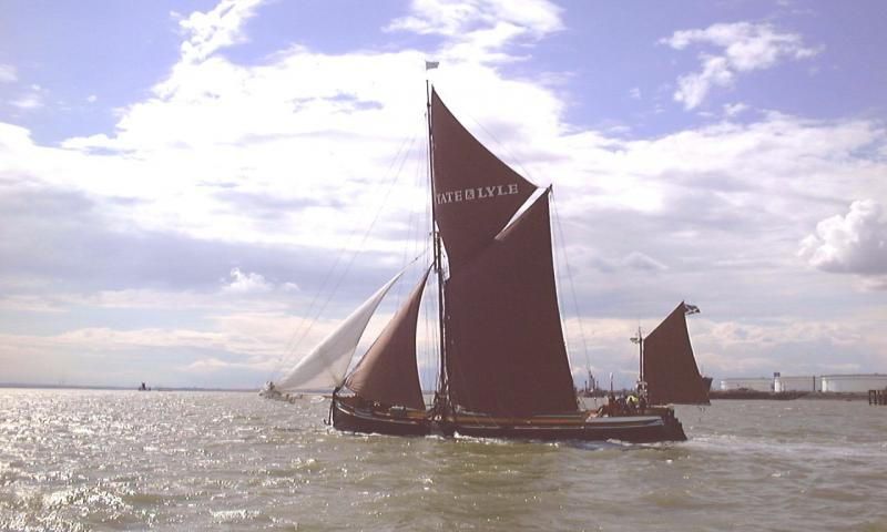 May under sail - port side view