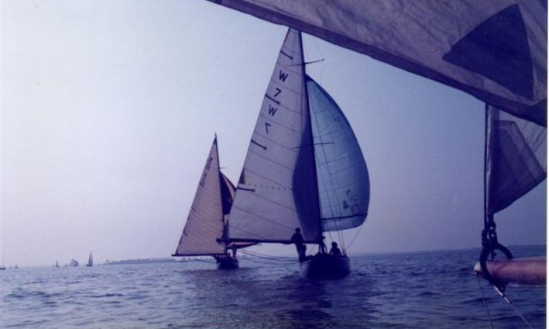Dilkusha - taken in Sep 1985, racing in Osea Regatta in River Blackwater Essex