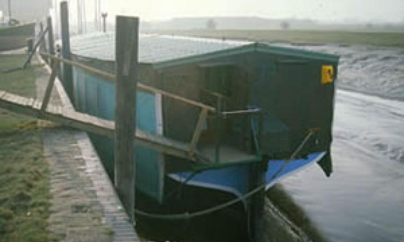 MIROSA - underneath her canopy at Faversham Creek, Winter 1996. Stern looking forward. Ref: 96/3/5/10