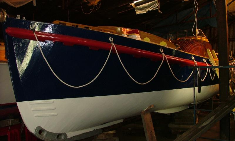 Aguila Wren - port bow newly painted