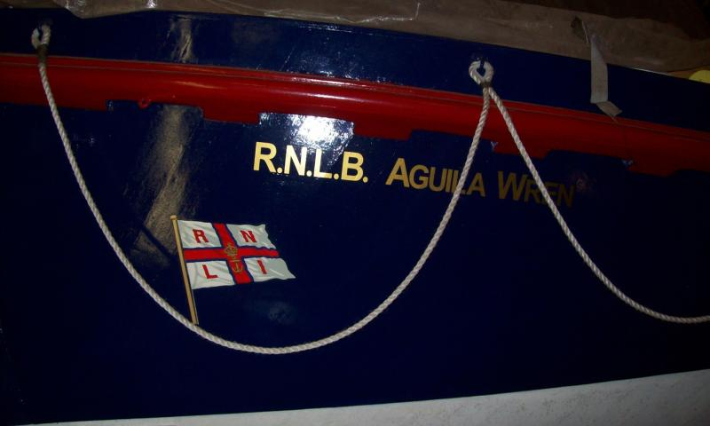 Aguila Wren - RNLI bowflags now reapplied