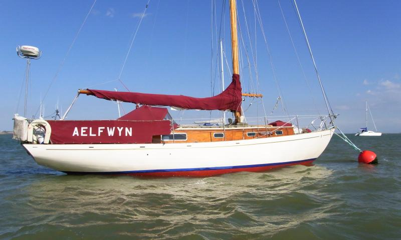 Aelfwyn - repainted, back on the water