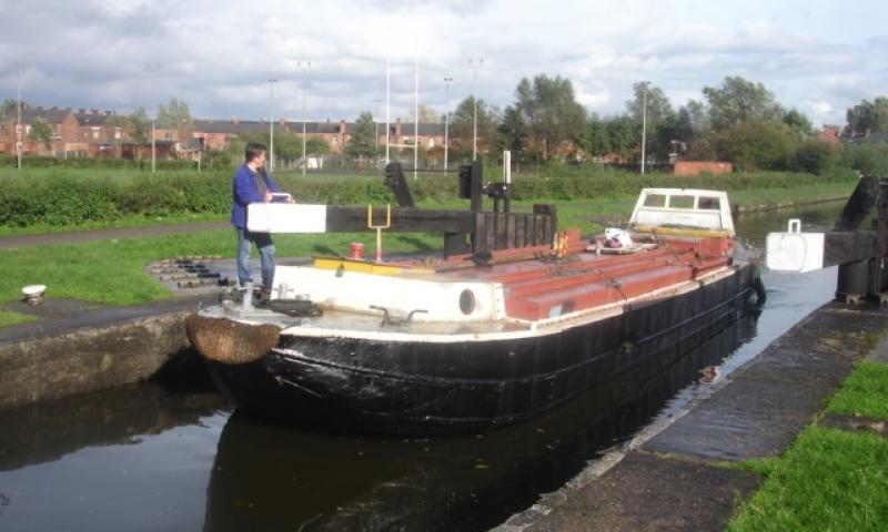 SHELLFEN in lock, bow view