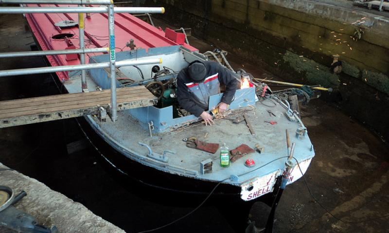 Shellfen - welding in dry dock