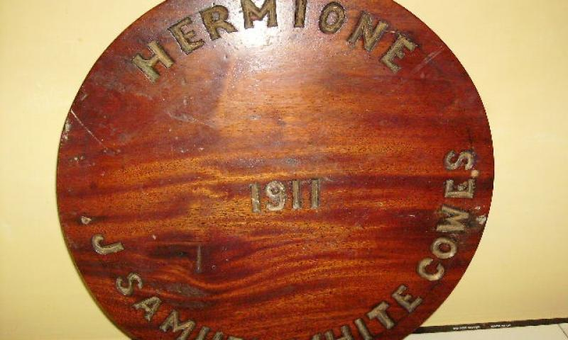 HERMIONE name plate