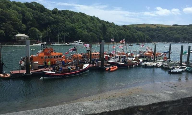 At the Fowey Harbour ex-lifeboat event, July 2015
