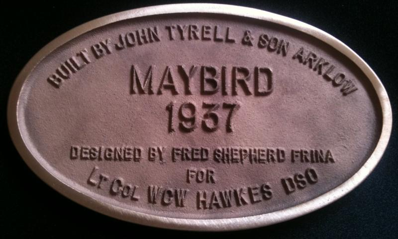 Maybird - plaque funded by Photo Comp 2011 Overall Winner prize (Mike Garlick)