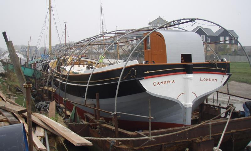 Cambria preparing to come out of the dry dock