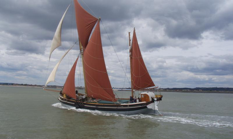 Cambria - winning 2011 Thames barge race