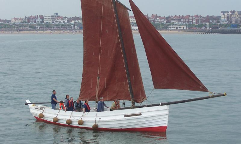 Three Brothers - 1912 sailing coble, enters Bridlington harbour - Photo Comp 2011 entry