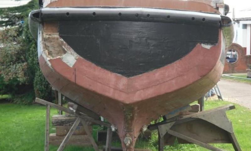 Terrier - transom with GRP sheathing