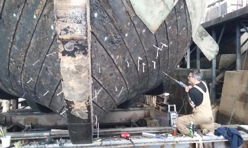 Work on the hull