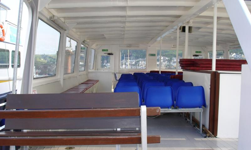 Dartmouth Castle - passenger seating