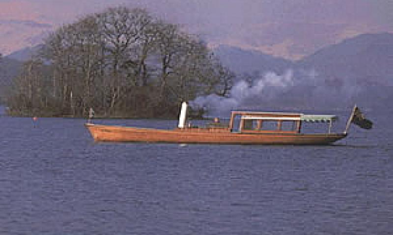 Branksome in steam on Lake Windermere - port side