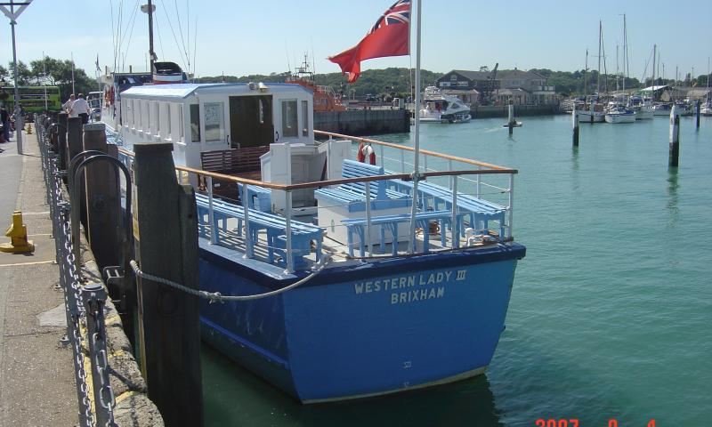 Western Lady III, at Yarmouth Isle of Wight, September 2007, stern view