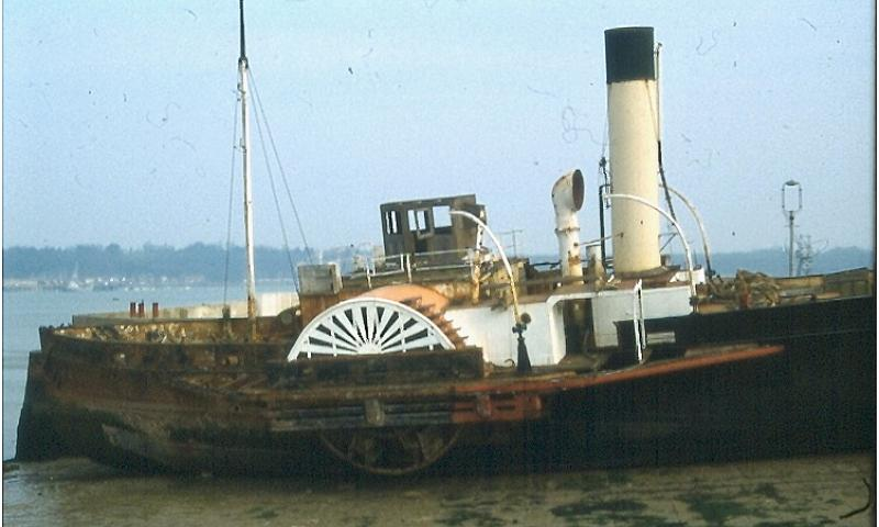 JOHN H AMOS steam paddle tug