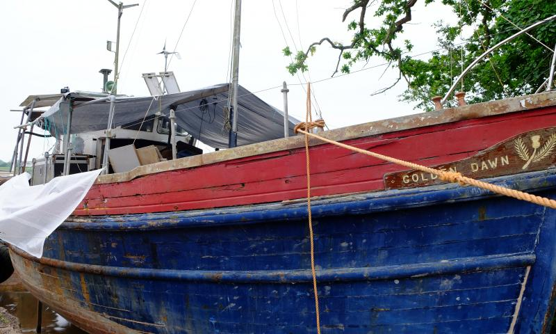 Conservation works in dry dock