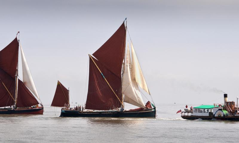 Photo Comp 2012 entry: Kingswear Castle, Edith May and Repertor in the Thames Estuary