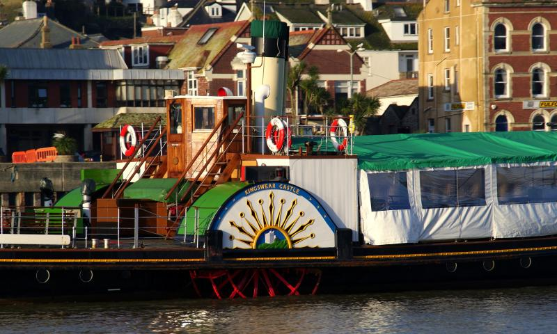 Kingswear Castle - paddle wheel