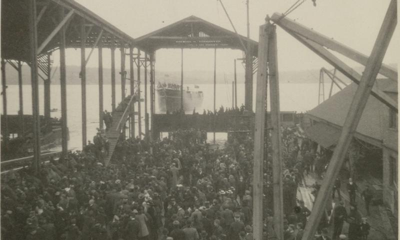 The launch of the Discovery in 1901
