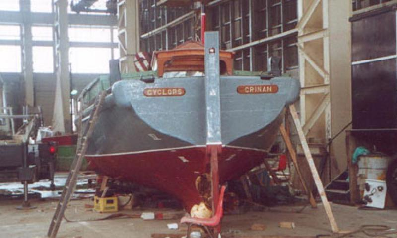 Cyclops during refit