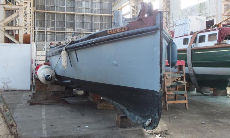 Bow view, Restoration work - Feb 2014