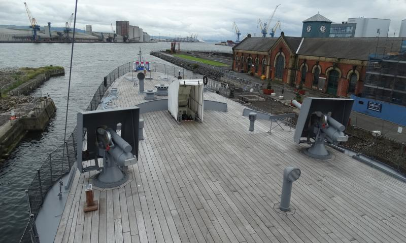 View from HMS Caroline
