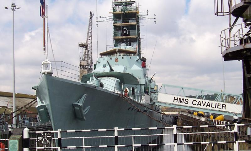 HMS Cavalier - bow facing
