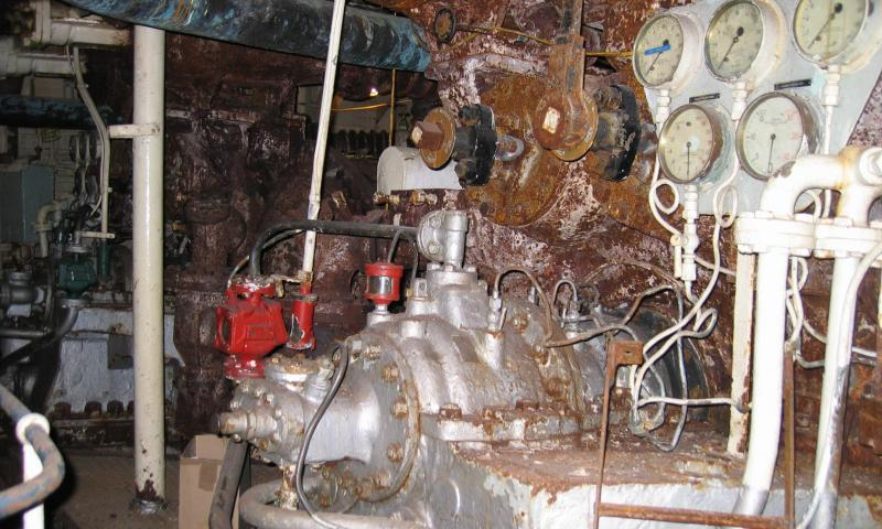 HMS Cavalier - engine room