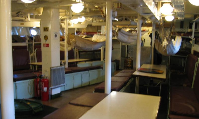 HMS Cavalier - below deck