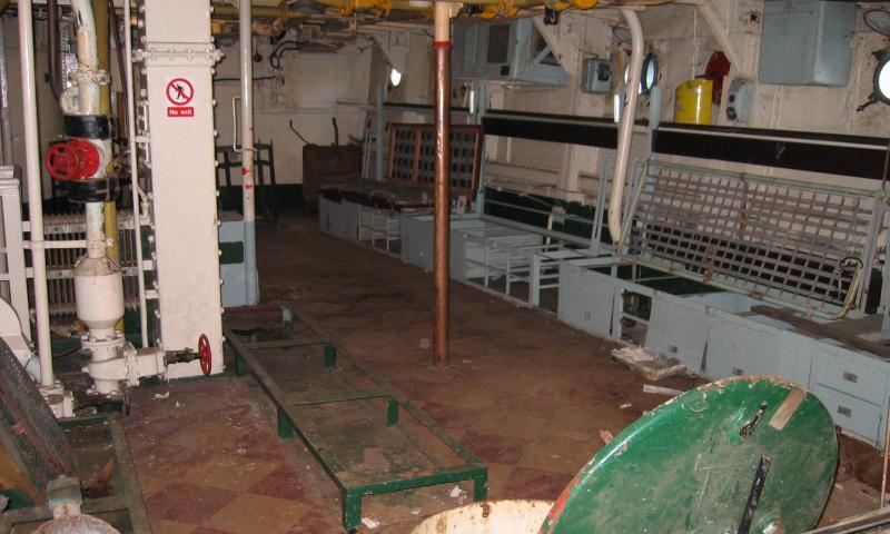 HMS Cavlier - below deck