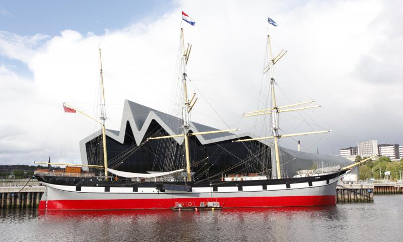 Glenlee - outside new Riverside museum, at opening on 21 June 2011