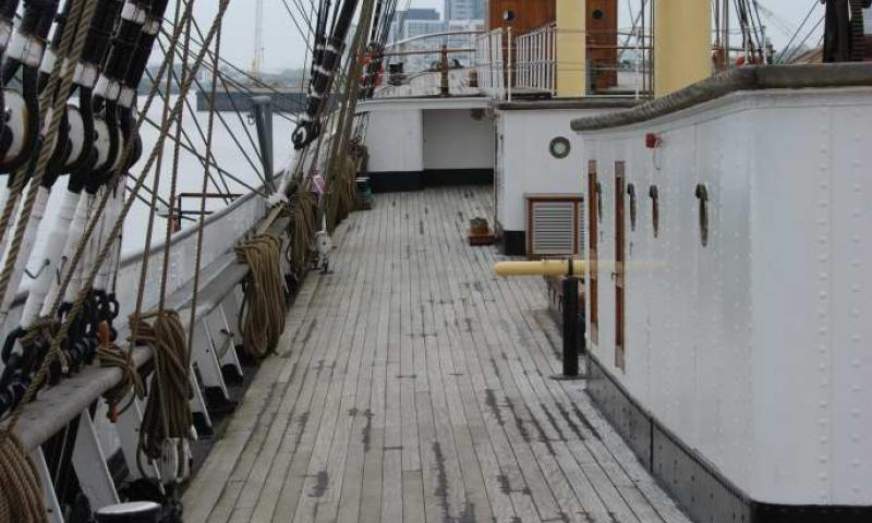 View of Glenlee's deck