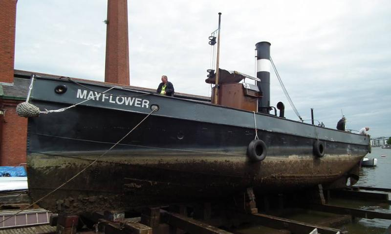 Mayflower - pulled out of the yard at Underfall Yard, Bristol