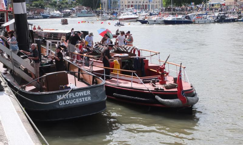 Mayflower with Pyronaut - at Bristol Harbour Festival