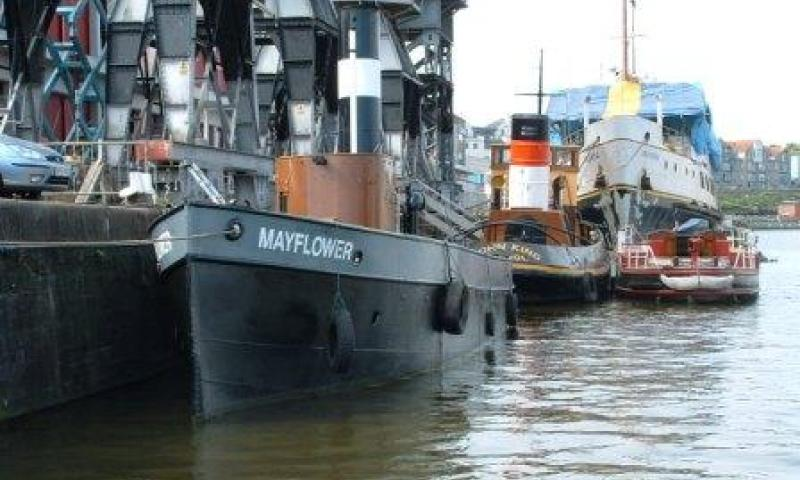 Mayflower - moored