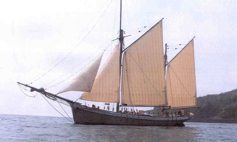Irene pictured sailing after full restoration project completed.