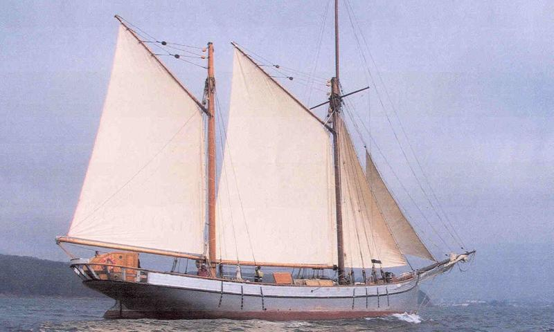 Irene out sailing after completion of restoration project