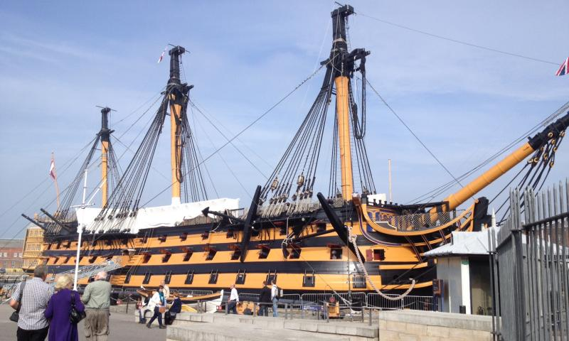 HMS Victory - masts off